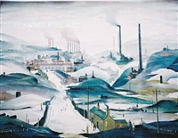 industrial panorama by laurence stephen lowry