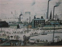industrial town by laurence stephen lowry