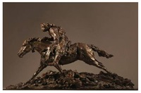 riding flat out - afghan horseman by jonathan kenworthy