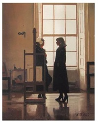 models in the studio (study) by jack vettriano