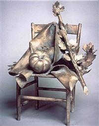 sedia con pomodoro by giacomo manzù