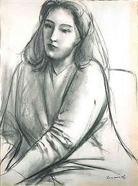 portrait of contessa francesca blanc by giacomo manzù