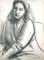portrait of contessa francesca blanc by giacomo manzù