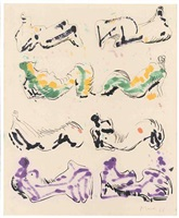 eight reclining figures by henry moore