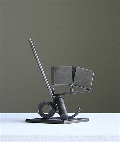 "maquette for ""balanced/unbalanced f"" by fletcher benton"