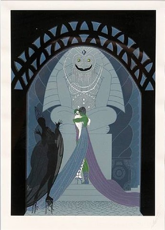 lovers and idol by erté