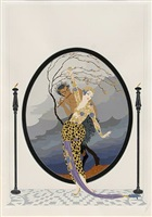 woman and satyr by erté