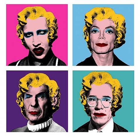 warhol wig series: manson, michael jackson, spock, andy warhol by mr.
