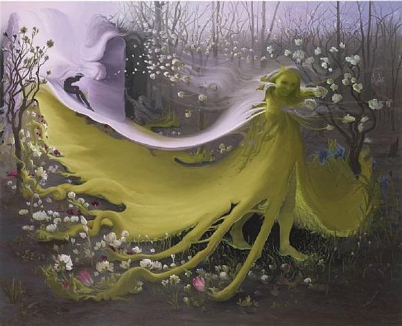green goddess ii by inka essenhigh