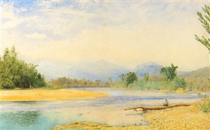 fishing in the white mountains by john william hill
