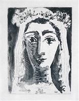jacqueline en mariée (jacqueline, married) by pablo picasso