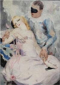 harlequin and columbine by micao kono