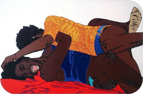 let's work together now by mickalene thomas