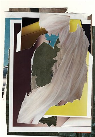 less world (torn advertising magazine pages) by ester partegàs