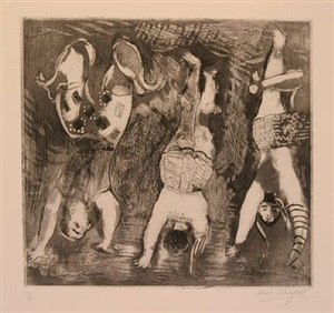les trois acrobates by marc chagall