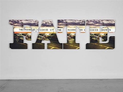 the handle comes up, the hammer comes down by doug aitken