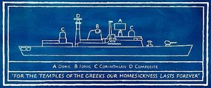 for the temples of the greeks... by ian hamilton finlay
