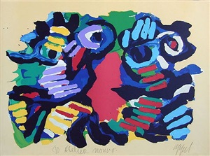 summer couple by karel appel