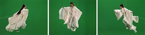 green screen goddess, triptych (ten thousand waves) by isaac julien