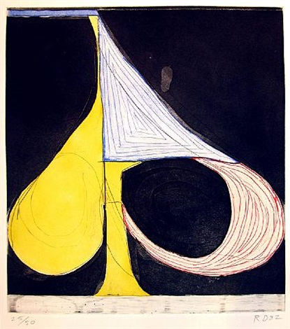 tri-color spade by richard diebenkorn