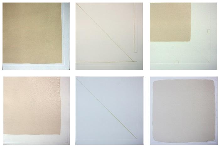 untitled set of 6 aquatints by robert ryman