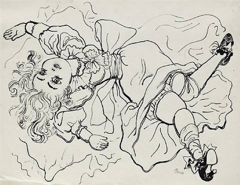 silk doll by george grosz