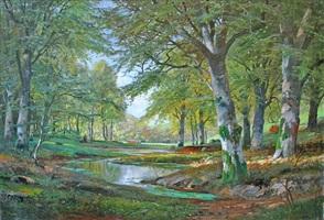 a spring forest by alois arnegger