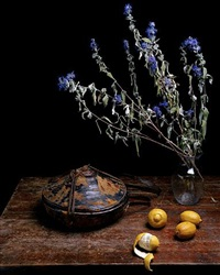 still life with agelgel & lemons by justine reyes