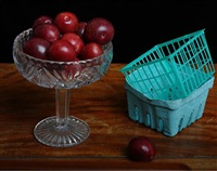 still life with sugar plums & containers by justine reyes