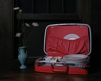 still life with suitcase by justine reyes