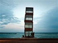 escultura en la playa (barcelona, 2007) (skulptur am meer, barcelona 2007) by josé maria mellado