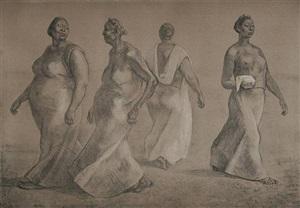 mujeres caminando ii by francisco zúñiga