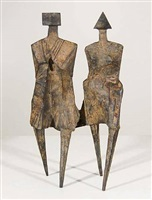 walking couple iv (c82) by lynn chadwick