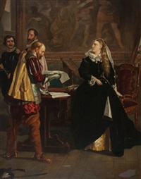 mary queen of scots receiving her letter of abdication by frederick richard pickersgill