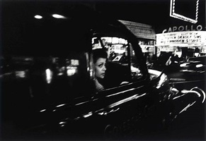 woman in front of apollo, ny by william klein