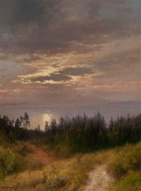view to the sea by hermann herzog