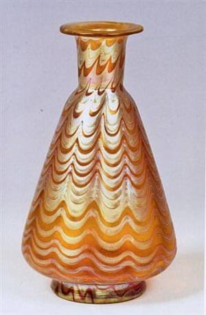 vase, dekor: phänomen gre 6893 by johann lötz witwe