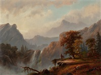 indians by the falls by alexander françois loemans