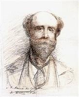 portrait of a bearded man, presumably maurice de gosselin by jules bastien-lepage