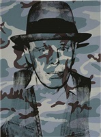 "joseph beuys in memoriam (from the portfolio ""for joseph beuys"") by andy warhol"
