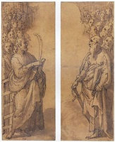 two groups of male saints and martyrs by federico zuccaro