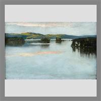 evening dusk over the lake by akseli valdemar gallen-kallela