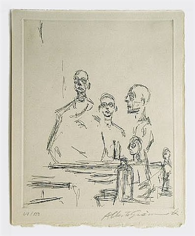 sculptures dans l'atelier by alberto giacometti