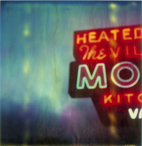 the village motel blue by stefanie schneider