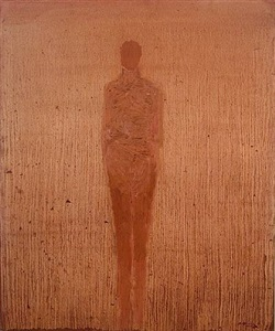 standing figure, looking forward by nathan oliveira