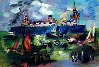 les yachts by jean dufy