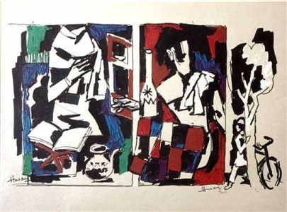 etchings, lithographs and serigraphs by maqbool fida husain