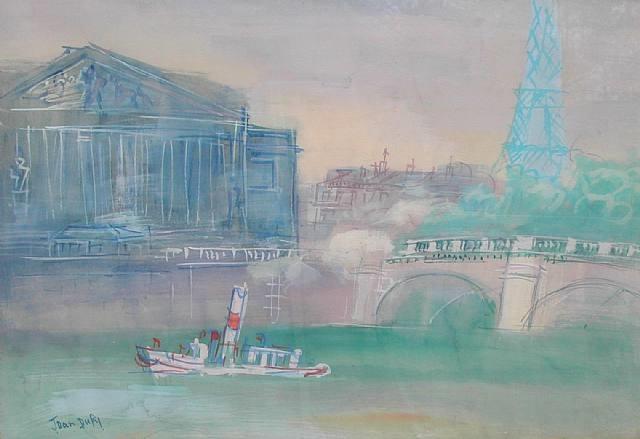 la seine au pont de la concorde by jean dufy