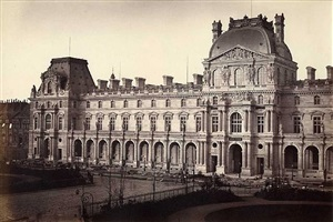 pavillon richelieu and pavillon turgot, louvre, paris by edouard-denis baldus