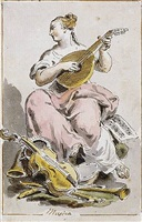 an allegorical figure of music by pietro de angelis